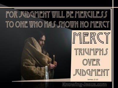 James 2:13 Mercy Triumphs Over Judgment (pink)