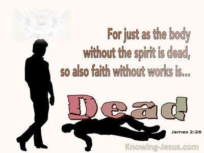 James 2:26 Faith Without Works Is Dead (pink)