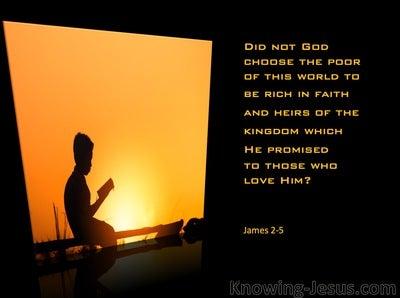 James 2:5 God Chose The Poor Of This World (orange)