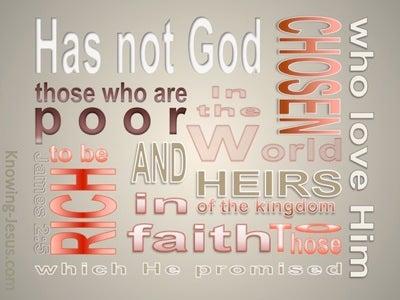 James 2:5 Rich In Faith (white)