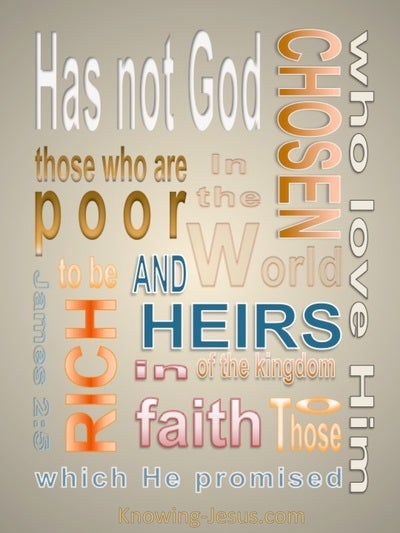 James 2:5 Rich In Faith (beige)