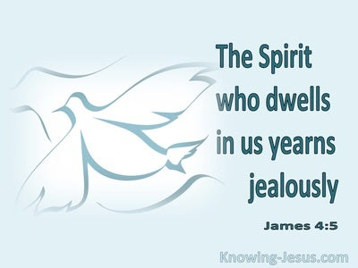 James 4:5 The Spirit Dwells WIthin Us (blue)