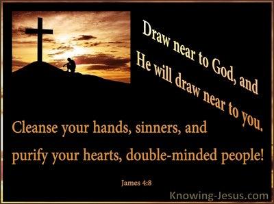 James 4:8 Draw Near To God (orange)