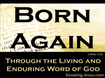 1 Peter 1:23 Born Again Of The Imperishable Word Of God (yellow)