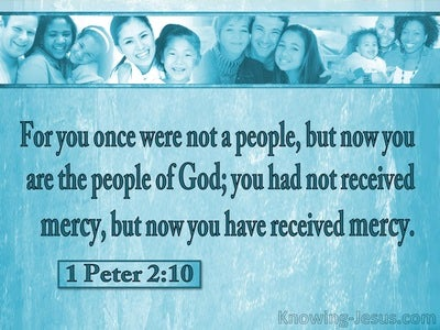 1 Peter 2:10 You Are The People Of God (aqua)