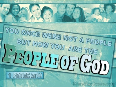 1 Peter 2:10 You Are The People Of God (white)