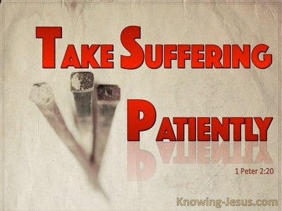 1 Peter 2:20 Patient Suffering Is Acceptable To God (red)