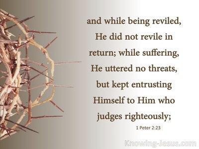 1 Peter 2:23 He Entrusted To Him Who Judges Righteously (beige)
