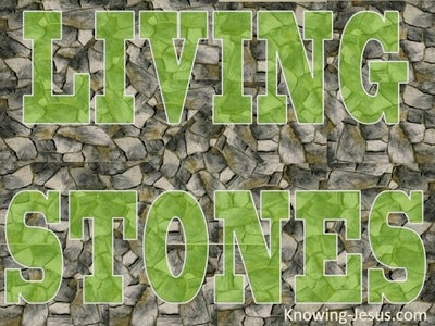 1 Peter 2:5 Living Stones (green)