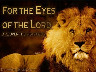 1 Peter 3:12 The Eyes Of The Lord On The Righteous (black)