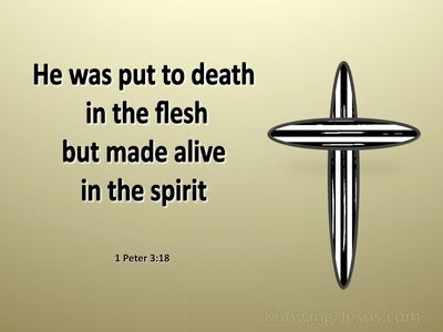 1 Peter 3:18 Made Alive In The Spirit (gold)