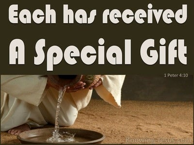 1 Peter 4:10 Each One Received A Spiritual Gift (brown)