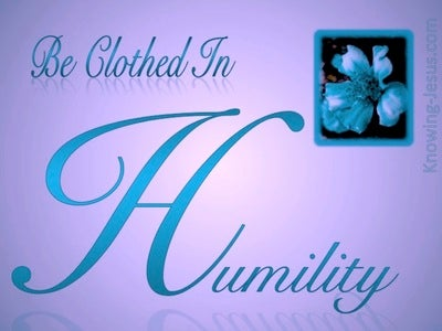 1 Peter 5:5 Be Clothed In Humility (purple)