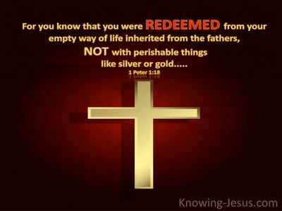 1 Peter 1:18 You Were Redeemed (gold)
