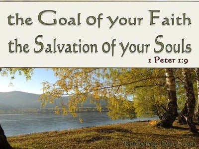 1 Peter 1:9 The Goal Of You Faith (beige)