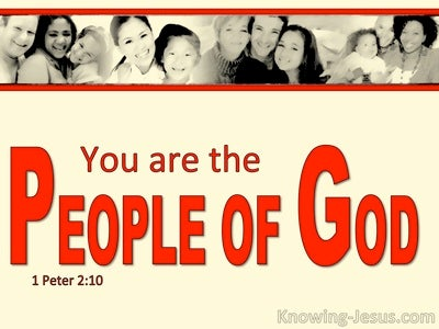 1 Peter 2:10 You Are The People Of God (red)