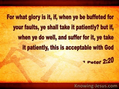 1 Peter 2:20 Patient Suffering Is Acceptable To God (brown)