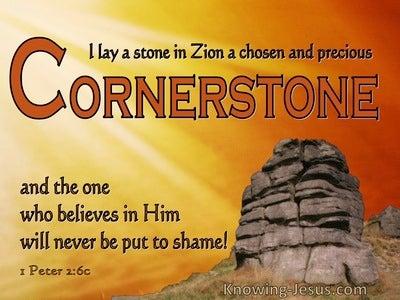1 Peter 2:6 In Zion : A Precious Cornerstone (orange)