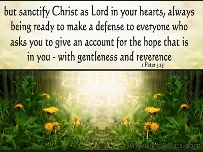 1 Peter 3:15 Sanctify Christ As Lord In Your Heart (beige)