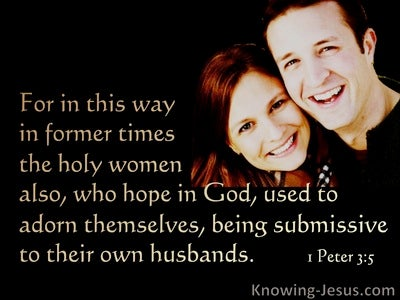 1 Peter 3:5 Holy Women Adorned Themselves Being Submissive (black)