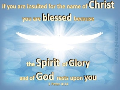 1 Peter 4:14 Spirit of Glory (blue)