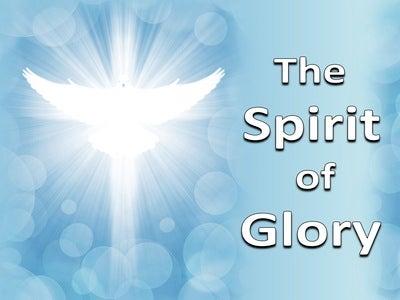 1 Peter 4:14 The Spirit Of Glory (blue)