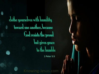 1 Peter 5:5 God Gives Grace To The Humble (green)