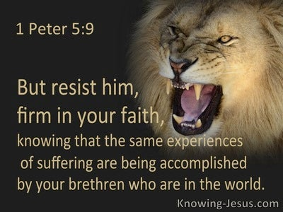 1 Peter 5:9 Resist Him, Firm In Your Faith (black)
