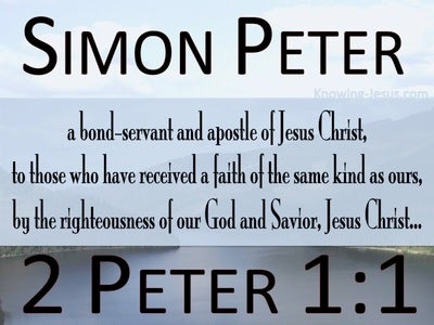 2 Peter 1:1 Like Precious Faith (blue)