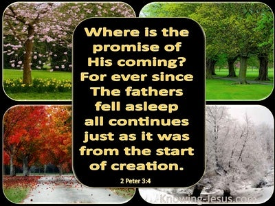 2 Peter 3:4 Where Is The Promise Of His Coming (black)
