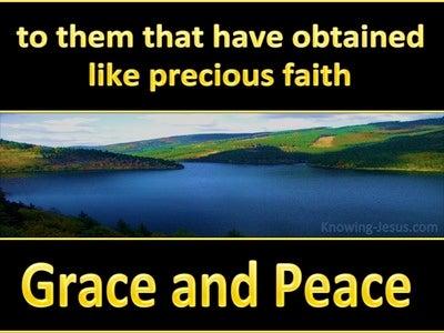 2 Peter 1:1 Like Precious Faith (yellow)