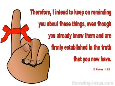 2 Peter 1:12 Firmly Established In The Truth (white)