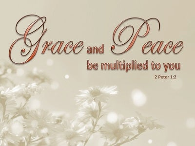 2 Peter 1:2 Grace And Peace Be Multiplied To You (beige)