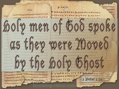 2 Peter 1:21 Holy Men Of God Spoke (beige)