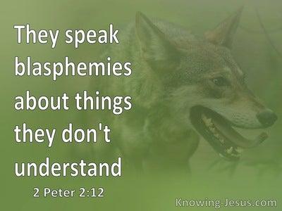 2 Peter 2:12 These People Blaspheme (white)