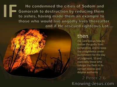 2 Peter 2:6 Sodom And Gomorrah An Example To The Ungodly (brown)