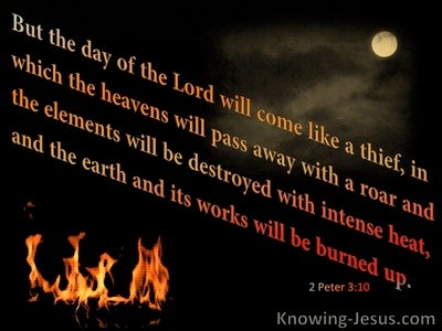 2 Peter 3:10 They Day Of The Lord Comes As A Thief (black)