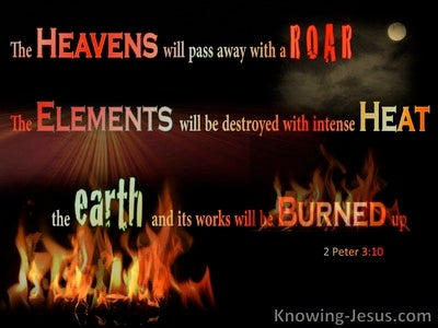 2 Peter 3:10 They Day Of The Lord Comes As A Thief (orange)