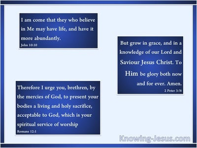 2 Peter 3:18 But Grow In Grace And In A Knowledge of Our Lord (blue)