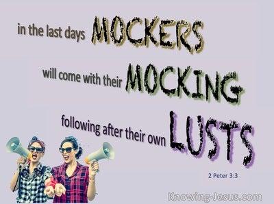 2 Peter 3:3 Mockers in the Last Days (purple)