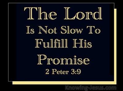 2 Peter 3:9 God is not Slow (black)
