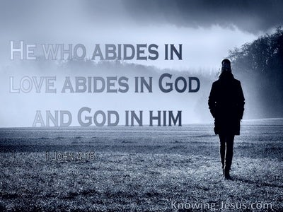 1 John  4-16 He Who Abides In Love Abides In God And  God In Him (gray)