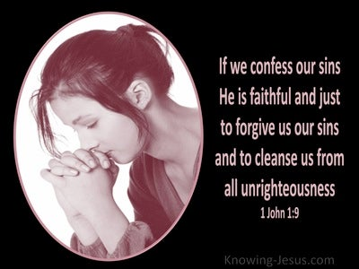 1 John 1:9 If We Confess Our Sins (pink)