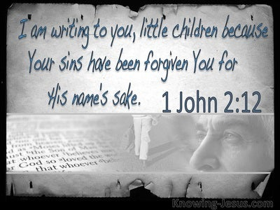 1 John 2:12 Your Sins Have Been Forgiven You (gray)