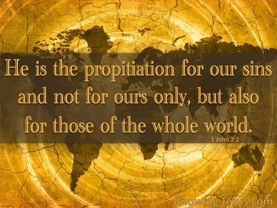1 John 2:2 Propitiation For Our Sins (brown)