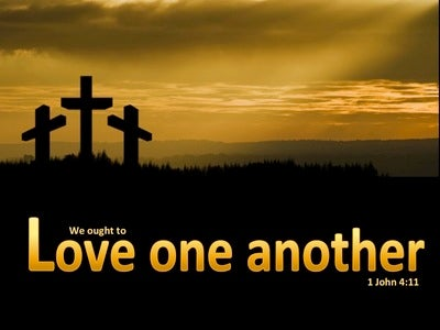 1 John 4:11 We Ought To Love One Another (orange)