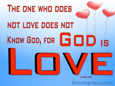 1 John 4:8 God Is Love (blue)
