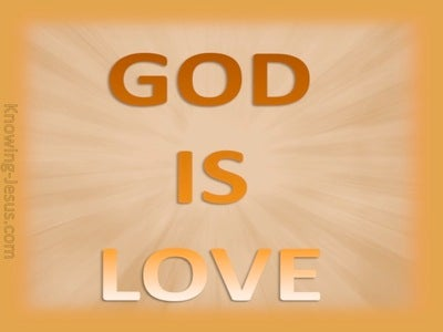 1 John 4:8 God is Love (gold)