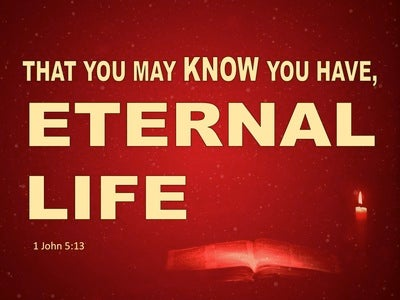 1 John 5:13 That Ye Know Ye Have Eternal Life (red)