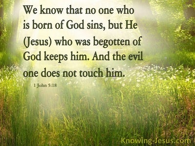 1 John 5:18 No One Born Of God Sins (green)